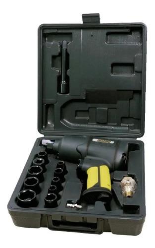 kit llave de impacto neumática 1/2  16 piezas barovo