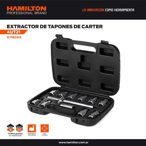 kit llave extractor tapon carter 12 pcs hamilton caja aut21