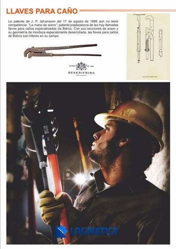 kit llave para caño bahco 141 stilson + pinza polygrip 8224