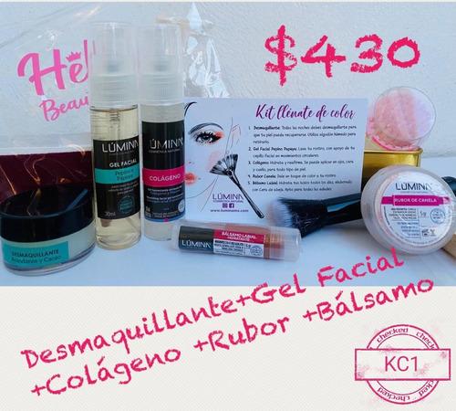 kit  llénate de color lumina cosmetica natural