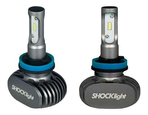 kit lâmpada h11 ultra led titanium shocklight 10000lm 50w 6k