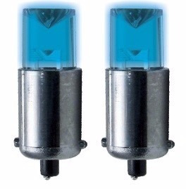 kit lâmpada led 69 esmagada azul 2 peças