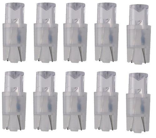 kit lâmpada led esmagada branco 10 peças