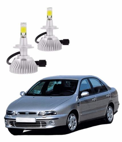 kit lâmpada led h1 fiat marea farol baixo 4400 1998 a 2008