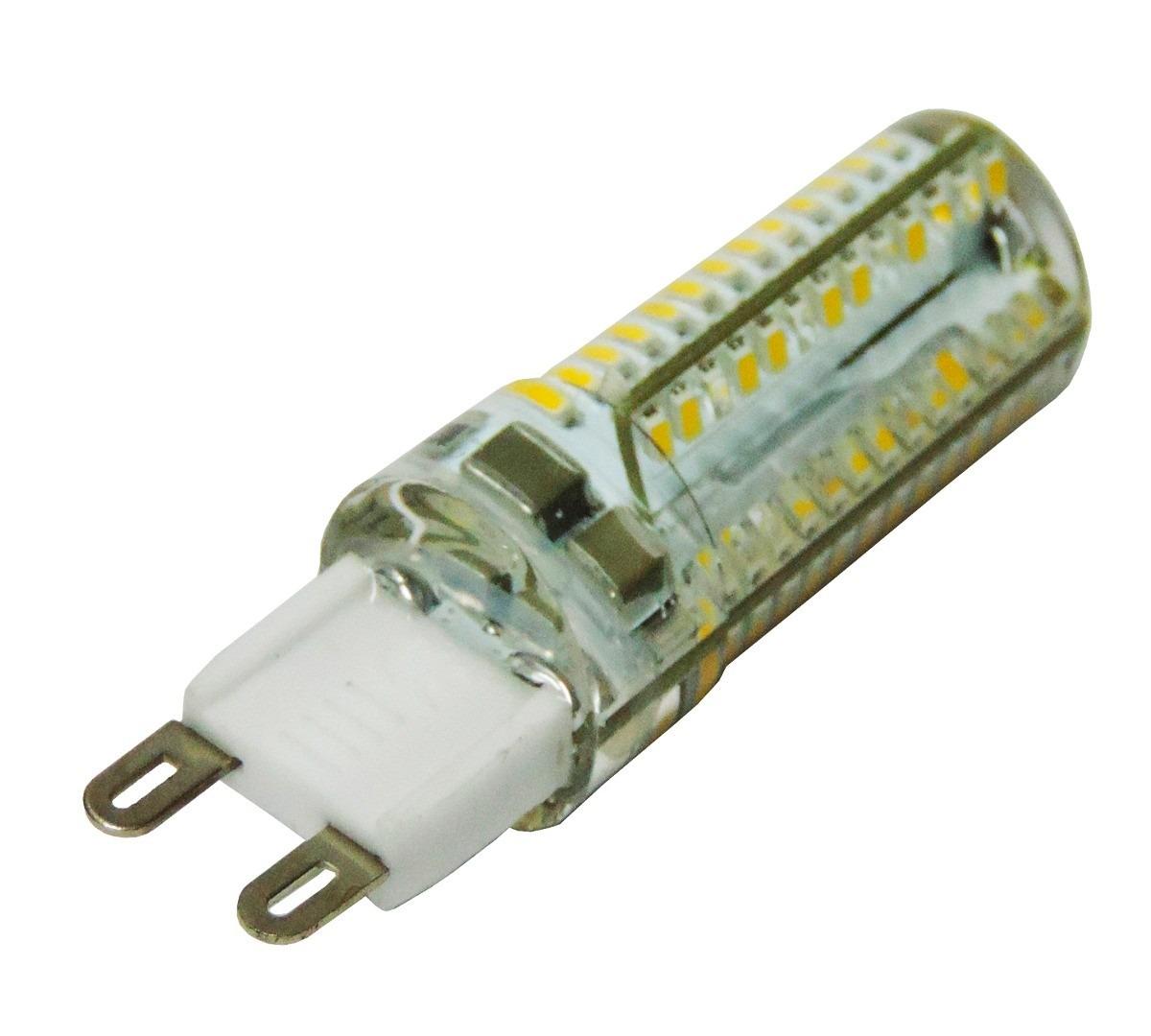 Kit 10 l mpada super led halopim g9 104 leds 9w 110 ou for Lampada led