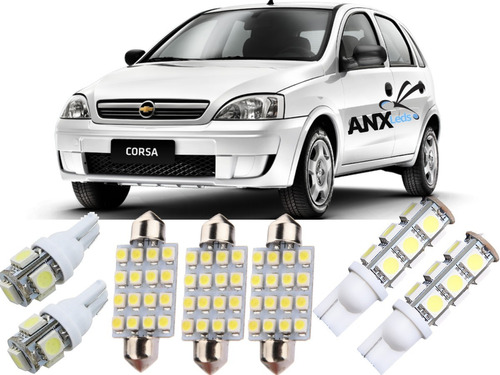 kit lâmpada led novo corsa sedan 2002 2003 2004 2005 2006