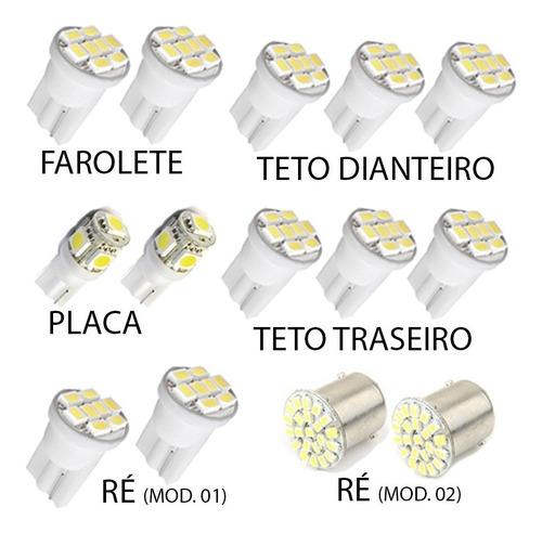 kit lâmpada led xsara picasso pingo teto placa ré torpedo