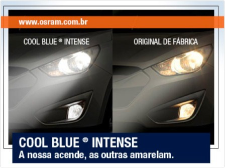 kit lâmpada osram cool blue intense hb3 4200k 20% mais luz