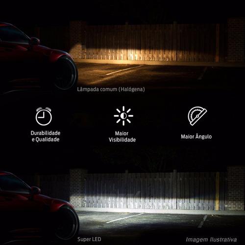 kit lâmpada super led 3d h4 6000k 12v e 24v 50w 7200 lumens