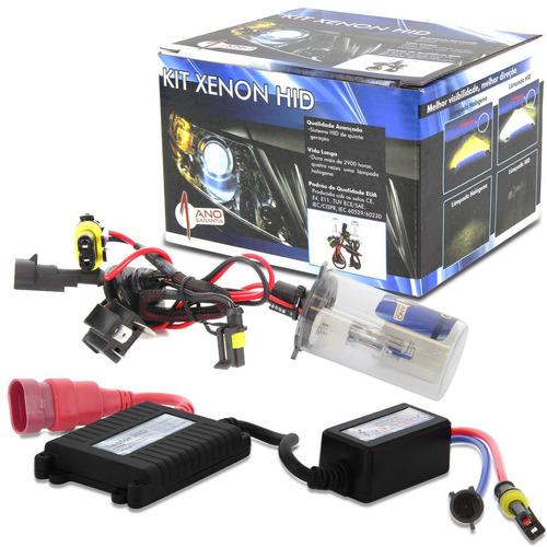 kit lâmpada xenon h4-2 novo fiat uno evo 10/16 reator slim