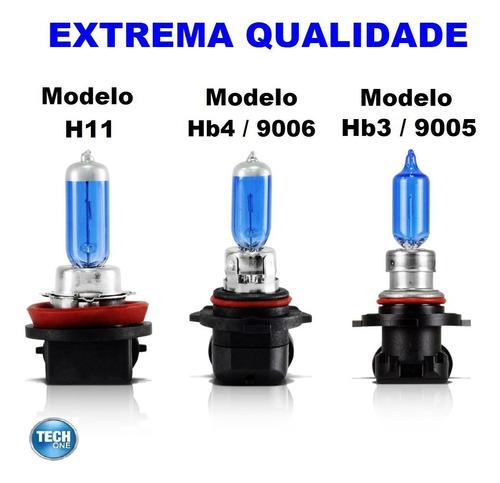 kit lâmpadas civic super branca h11 hb3 hb4 tipo xenon 8500k