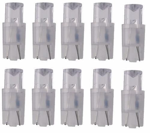 kit lâmpadas de led esmagada branca jg c/ 10 peças