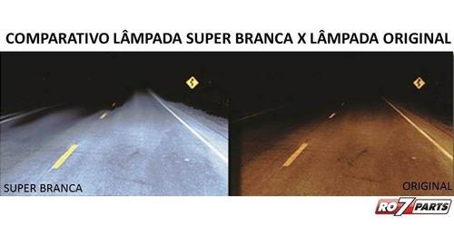 kit lâmpadas h11 12v 55w super branca - farol milha bmw