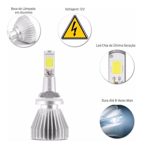 kit lâmpadas h27 6000k tipo xenon super led headlight 12/24v