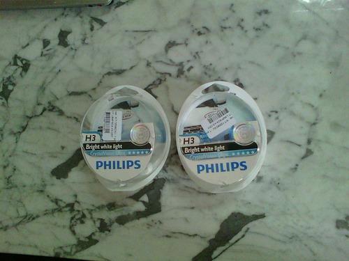 kit lâmpadas h3 philips crystal vision ultra