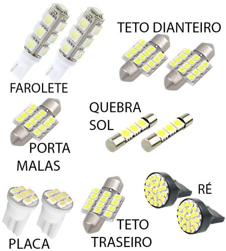 kit lâmpadas led crv 2007 2012 luz pingo teto placa ré xenon