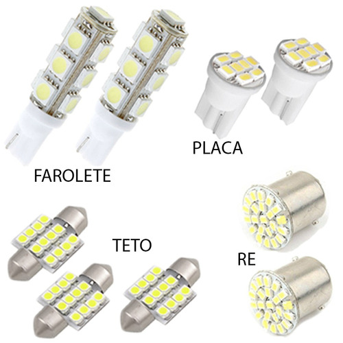 kit lâmpadas led honda fit city civic placa pingo torpedo ré