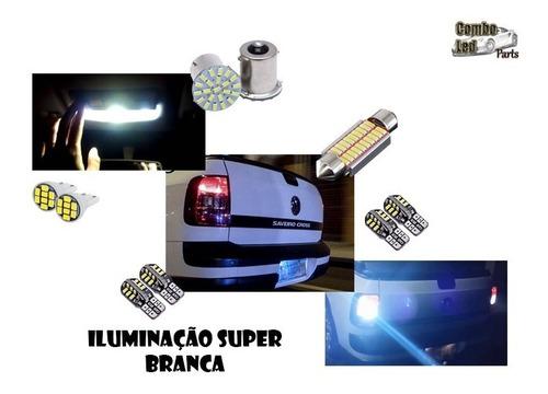 kit lâmpadas premium led vw saveiro cross - efeito xenon