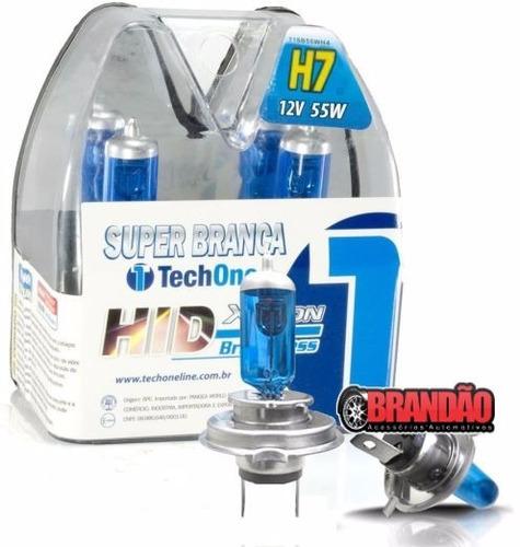 kit lâmpadas super brancas techone 8500k new fiesta
