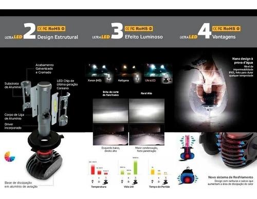 kit lâmpadas ultra led hb4 titanium 6k shocklight 50w 10000l