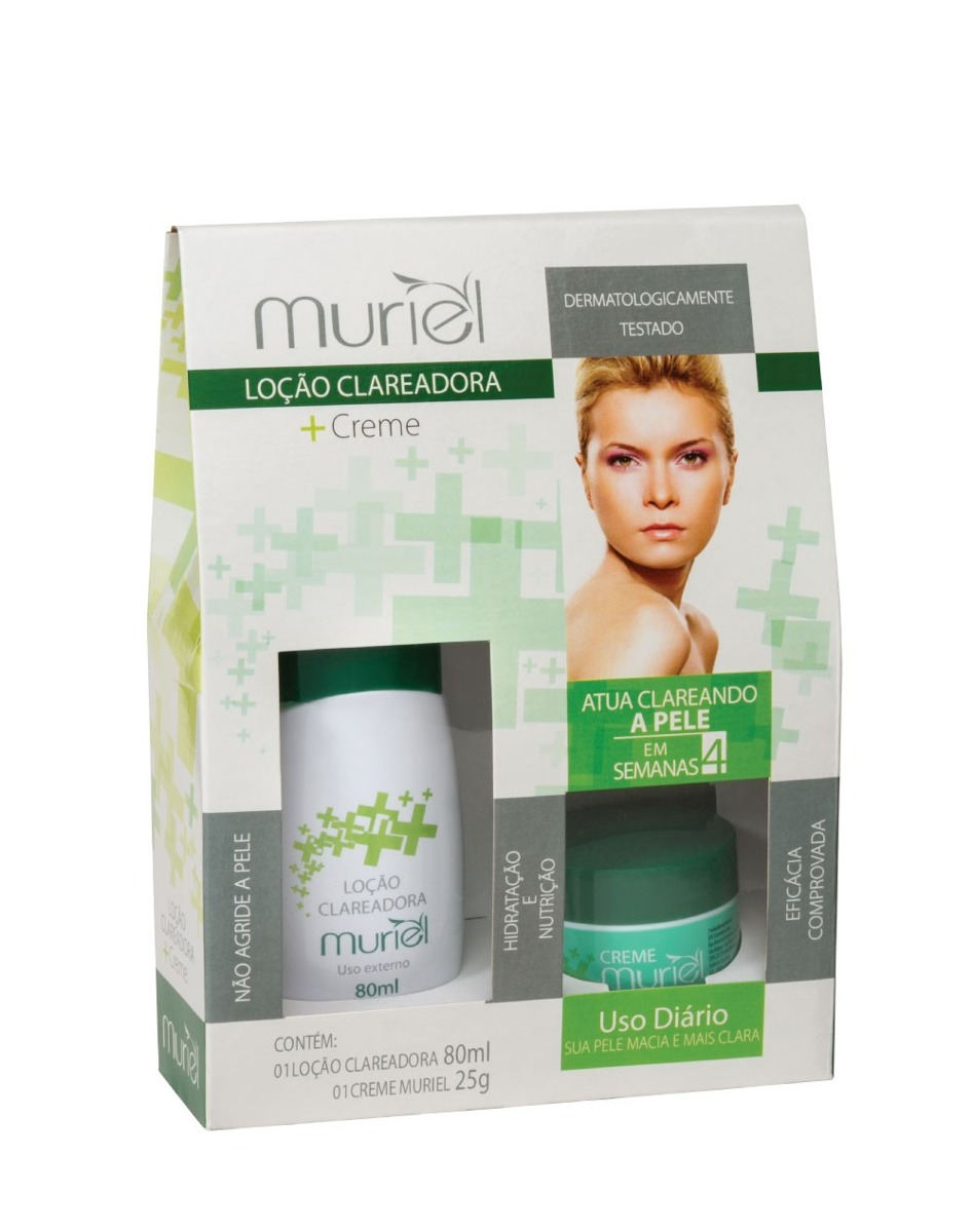 Kit Locao Clareadora 80ml Creme Hidratante Facial 25g Muriel R 31