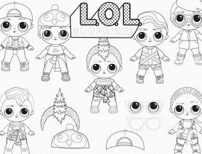 Kit Lol Boys Imágenes Para Colorear Png Pdf