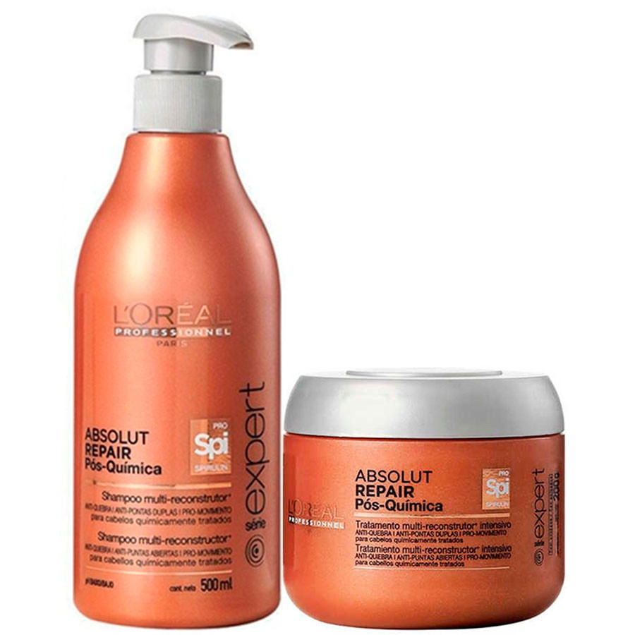 39ac73915 kit loréal absolut repair pós química shampoo + máscara. Carregando zoom.