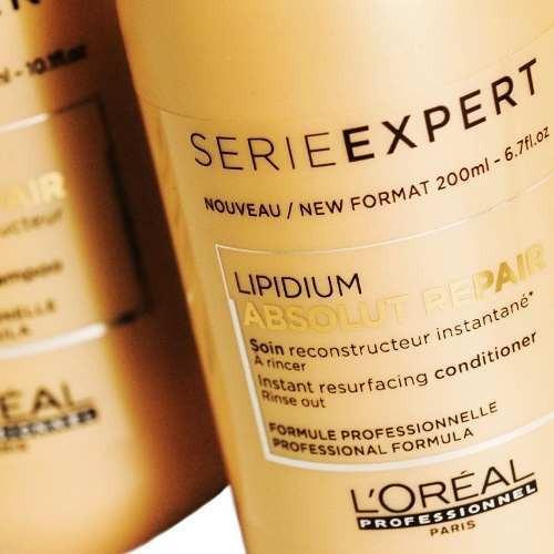 kit loreal absolut repair shampoo x300 + acondicionador x200