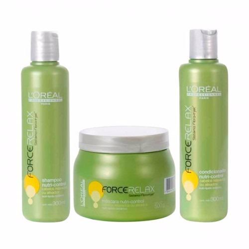 8383f089e Kit Loreal Force Relax Nutri Control Shampoo + Masc + Cond - R$ 285,00 em  Mercado Livre