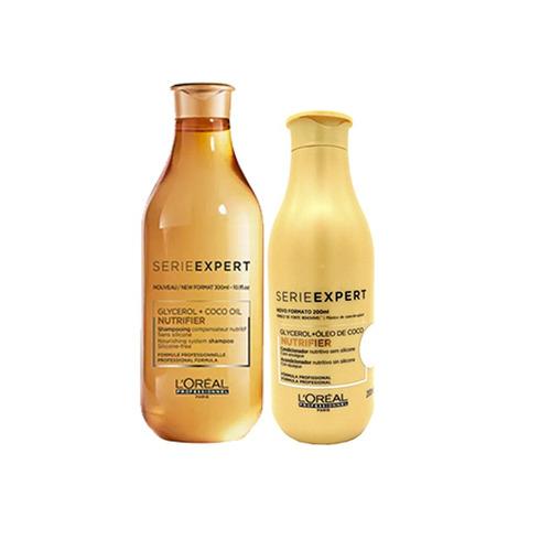 kit loreal nutrifier shampoo 300ml + condicionador 200ml