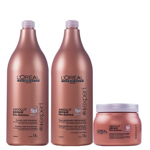 kit loreal professionnel absolut repair pós química litro (3