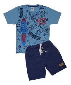5e8b234b2b35f Kit Lote 10 Conjunto Roupa Infantil Menino Masculino Atacado