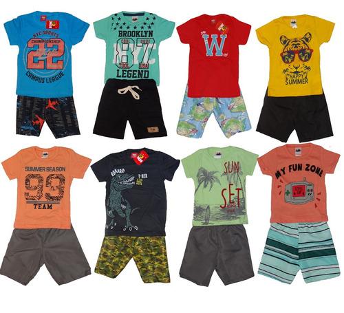 kit lote 10 conjunto roupa infantil menino masculino atacado