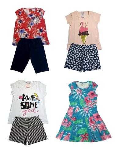 kit lote 10 conjuntos infantil feminino roupa menina atacado