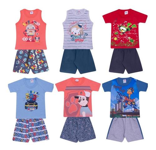 kit lote 10 conjuntos infantil masculino ou feminino atacado revenda de roupas infantis baratas menino e menina verão