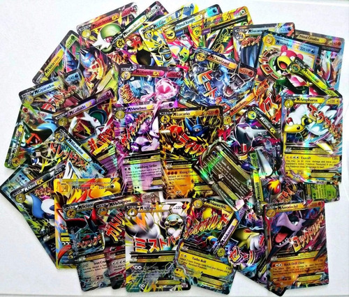 kit lote 35 cartas pokemon gx + 1 mega ex