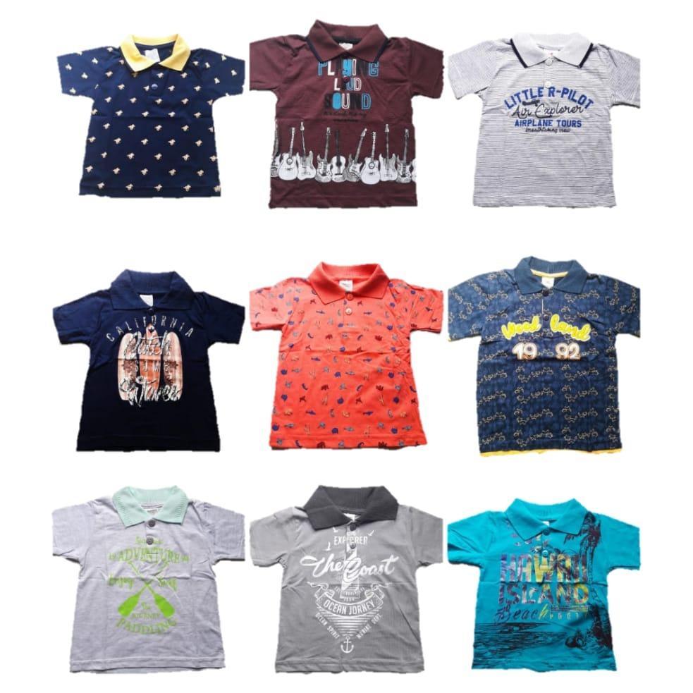 kit lote 5 camisetas gola polo infantil p bebe a 3 anos atac. Carregando  zoom. 8dbe4cca4b1ec