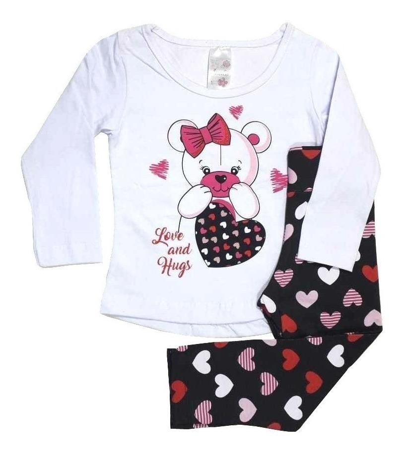 826b31f47b3162 Kit Lote 5 Conjuntos Infantil Feminino Roupa Inverno Sortido