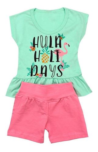 kit lote 6 conjunto roupa infantil menina feminino atacado