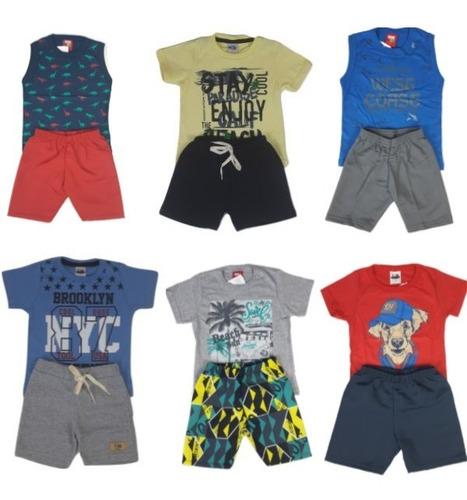 kit lote 6 conjuntos infantil roupa menino masculino atacado