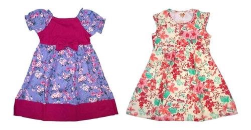 kit lote 6 vestido infantil feminino roupa menina atacado