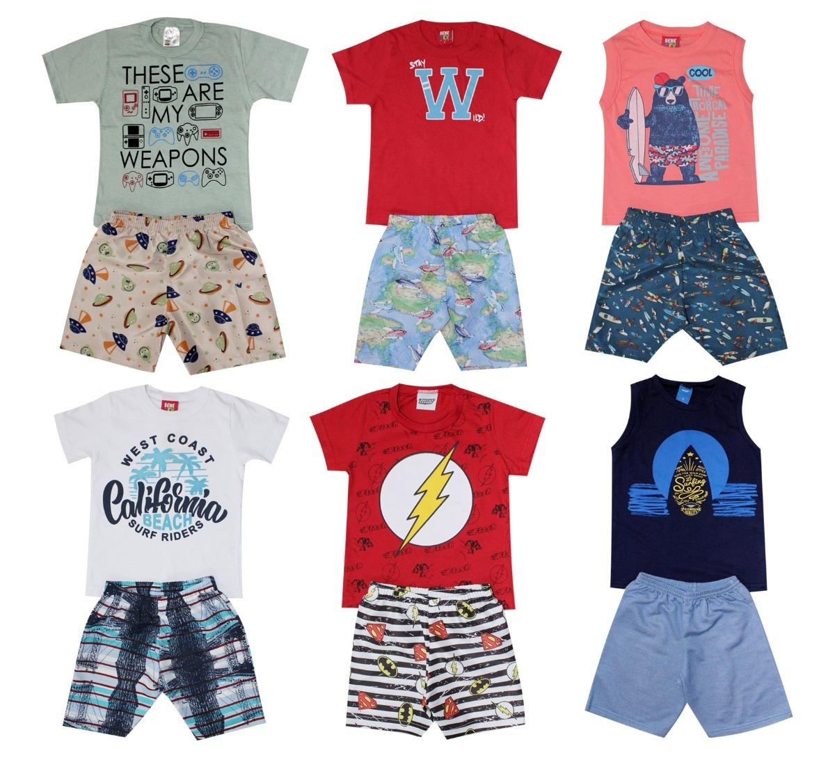 c1f7adc7c2 kit lote 7 conjuntos infantil roupa menino atacado 1ao8. Carregando zoom.