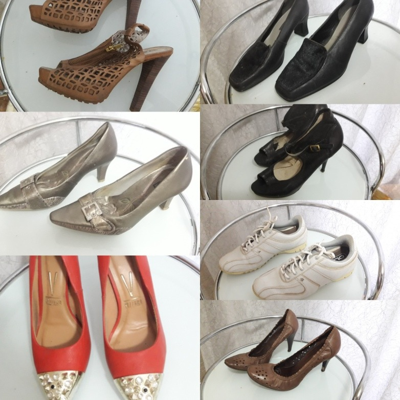 4b5f1ea5a9 Kit Lote 7 Pares De Sapatos Schutz Dakota Vizano Comfortflex - R ...