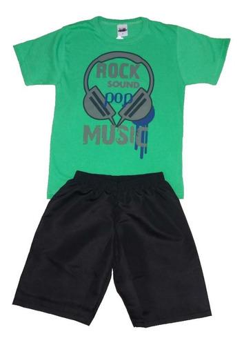 kit lote 8 conjunto infantil masculino atacado roupa menino