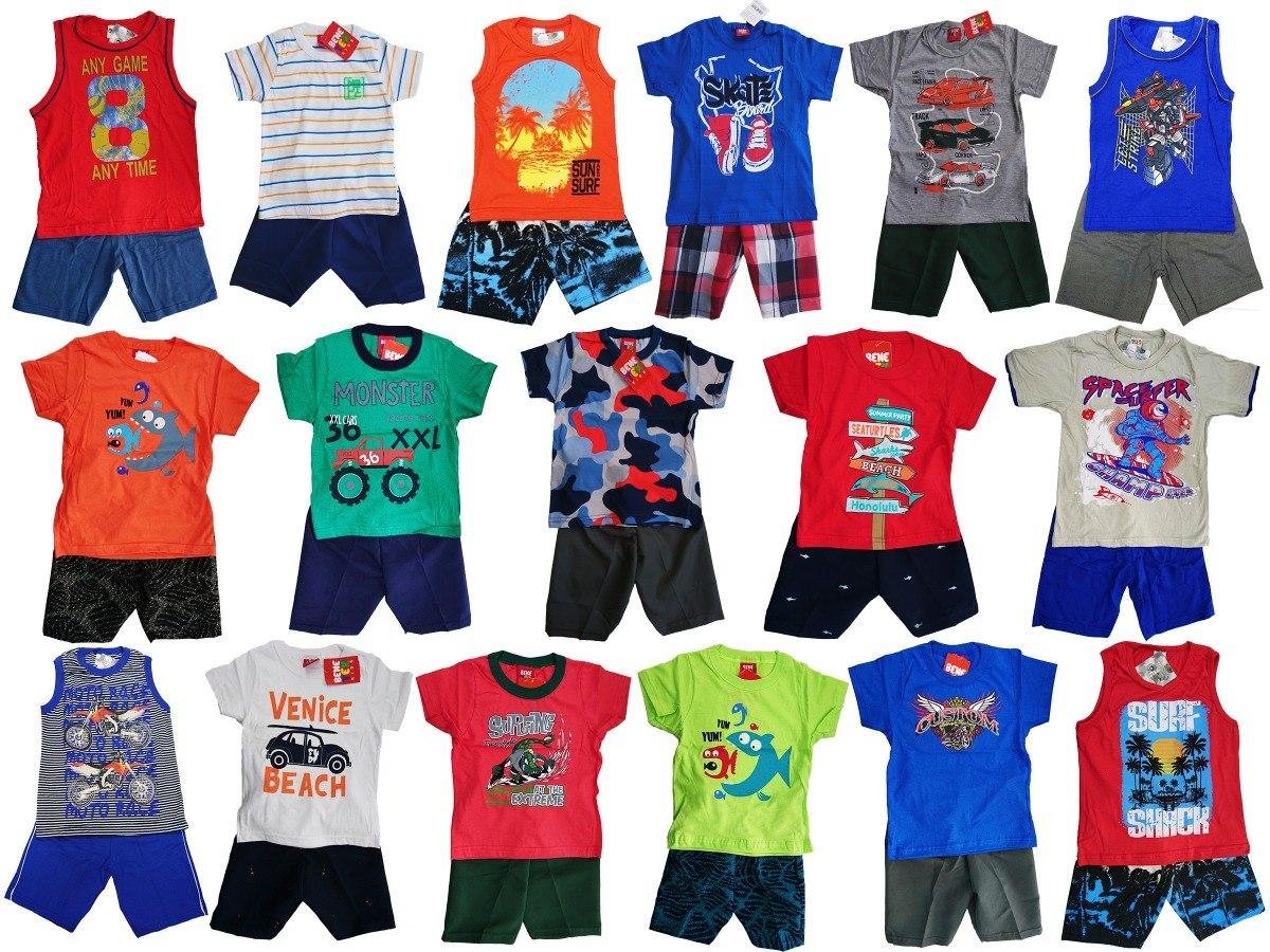 Kit Lote 8 Conjuntos Infantil Masculino Roupa Menino Atacado - R  149 f0b43941391