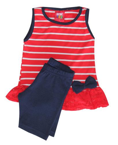 kit lote roupa infantil 10 conjunto feminino tam 1-2-3-4-6