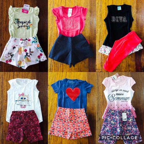 kit lote roupa infantil atac 5 conj menina12346891012 14anos