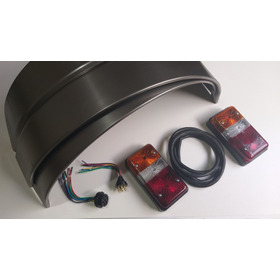Kit Luces Con Marcha Atras + Guardabarros Para Trailer