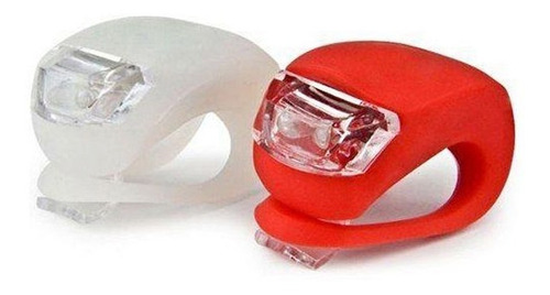 kit luces de silicona led para bicicleta delantera y trasera