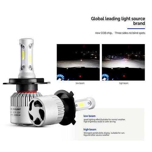 kit luces led cree h4 para peugeot 205 405 504 505 16.000lms